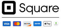 Secure Checkout with Square - Visa, MasterCard, American Express, Discover Apple Pay, Google PayAccepted