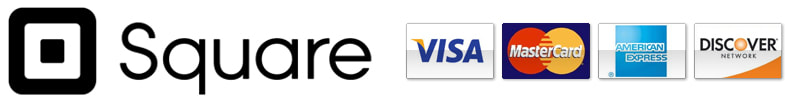 Secure Checkout with Square - Visa, MasterCard, American Express or Discover Accepted